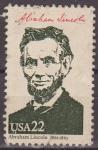 Stamps United States -  USA 1986 Scott 2217 Sello Presidentes Americanos Abraham Lincoln usado Estados Unidos Etats Unis