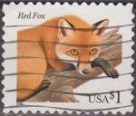 Stamps United States -  USA 1996 Scott 3036 Sello Fauna Animales Zorro Rojo usado Estados Unidos Etats Unis