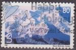 Stamps United States -  USA 2001 Michel 3449 Sello Paisajes Monte Mc Kinley usado Estados Unidos Etats Unis