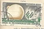 Stamps France -  Centro de telecomunicaciones espaciales