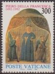 Sellos de Europa - Vaticano -  VATICANO 1992 904 Sello Nuevo Frescos Pintor Piero della Francesca MNH