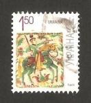 Stamps Ukraine -  caballero con espada