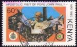 Stamps Africa - Kenya -  KENIA 1980 Sello Visita Apostolica del Papa Juan Pablo II Usado Kenya