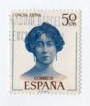 Stamps : Europe : Spain :  Literatos. Concha Espina