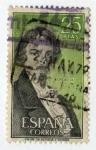 Stamps : Europe : Spain :  Literatos. Espronceda