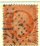 Sellos del Mundo : Europa : Francia : 1853-60 40 C AMARILLO NARANJA YVERT 16