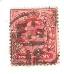 Stamps United Kingdom -  correo terrestre con perforaciones