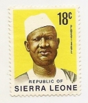 Stamps Africa - Sierra Leone -  Personaje