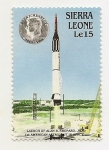 Stamps Africa - Sierra Leone -  1° Astronauta en el espacio