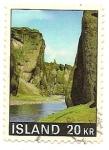 Stamps Iceland -  Paisajes