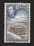 Stamps : Asia : Sri_Lanka :  Puerto de Colombo y George VI