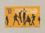 Stamps Mexico -  Olimpiadas 1968:Baloncesto