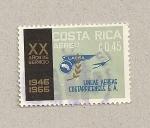 Sellos de America - Costa Rica -  20 aniv. lineas aéreas