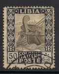 Stamps Africa - Libya -  Antigua Galera.