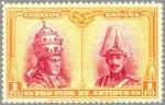 Stamps Spain -  ESPAÑA 1928 413 Sello Nuevo Pro Catacumbas de San Dámaso en Roma Serie Toledo Pio XI y Alfonso XIII
