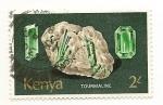 Stamps Africa - Kenya -  Tourmaline ( Turmalina )