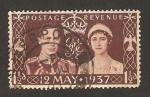 Stamps United Kingdom -  223 - Coronación de George VI y Elizabeth