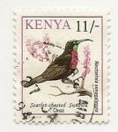 Stamps Kenya -  Nectarinia Senegalensis