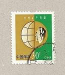 Sellos de Asia - China -  Globo