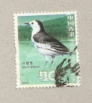 Sellos del Mundo : Asia : Hong_Kong : Lavandera de cola blanca