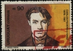 Stamps of the world : Uruguay :  Pintor Carlos Federico Sáez. 1878 - 1901.