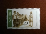 Stamps Oceania - Naurú -  75th anniversary of scouting