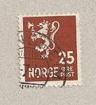 Stamps Norway -  León con hacha