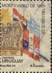 Sellos del Mundo : America : Uruguay : 100 años de los Tratados de Montevideo de 1889.