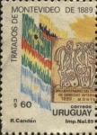 Stamps of the world : Uruguay :  100 años de los Tratados de Montevideo de 1889.