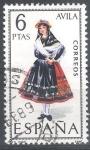 Sellos de Europa - España -  Trajes. Avila.