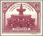 Sellos de Europa - España -  ESPAÑA 1931 604 Sello Nuevo III Congreso Union Postal Panamericana Fuente de los leones Alhambra