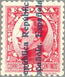 Sellos de Europa - España -  ESPAÑA 1931 598 Sello Nuevo Alfonso XIII Sobrecargado numero de control al dorso
