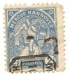 Stamps Germany -  Mercur Hannover Mercado de