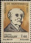 Sellos del Mundo : America : Uruguay : Gonzalo Ramirez. Tratados de Montevideo de 1889.