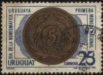 Stamps America - Uruguay -  Primera moneda nacional. Día de la numismática Uruguaya.