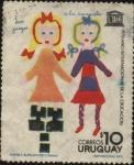 Stamps Uruguay -  UNESCO Año internacional de la educación. Dibujo infantil - La Rayuela -