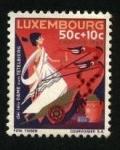 Stamps Luxembourg -  Cuento  la dama romana de Titelberg. Caritas 1965.