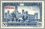 Stamps Europe - Spain -  ESPAÑA 1931 633 Sello Nuevo III Congreso Union Postal Panamericana Plaza de Cibeles Madrid OFICIAL