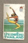 Stamps Asia - Thailand -  Gimnasia rítmica