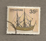 Stamps Asia - Singapore -  Galeón