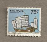 Stamps Asia - Singapore -  Junco mercante