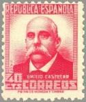 Sellos de Europa - España -  ESPAÑA 1936 736 Sello Nuevo Personajes Emilo Castelar (1832-1899)