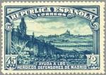 Sellos de Europa - España -  ESPAÑA 1938 757 Sello Nuevo Defensa de Madrid Puente de Toledo 45c+2p