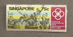 Sellos del Mundo : Asia : Singapur : 25 Aniversario Asociaciones