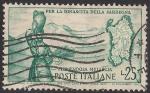 Sellos de Europa - Italia -  Campesina y mapa de Cerdeña