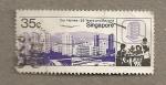 Sellos del Mundo : Asia : Singapur : Nuestras casas y 25 años más allá