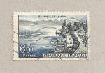 Stamps France -  Evian les Bains