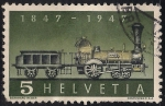 Stamps Europe - Switzerland -  Primera locomotora de vapor Suiza.