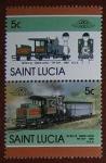 Sellos del Mundo : America : Santa_Lucia : Trenes