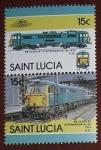 Stamps America - Saint Lucia -  Trenes